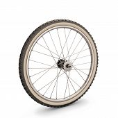 picture of bicycle gear  - Bicycle wheel isolated on white background - JPG