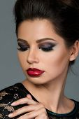 foto of arabic woman  - Beauty portrait of young beautiful woman with arabic makeup
