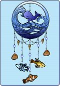 picture of shell-fishes  - Sea mobile for children with fish - JPG