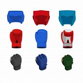 image of boxing gloves  - Boxing icon set - JPG