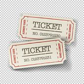 stock photo of movie theater  - Two cinema tickets  - JPG