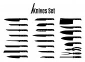 foto of knife  - Vector knives collection - JPG