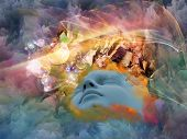 picture of human face  - Lucid Dreaming series - JPG