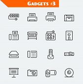 picture of peripherals  - Peripheral devices and gadgets icon set - JPG