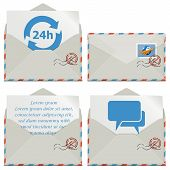 foto of bubble sheet  - Contact Icons with envelope - JPG