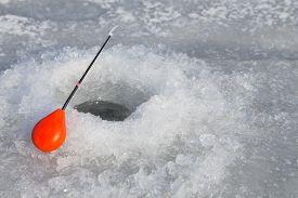image of ice fishing  - Winter fishing - JPG
