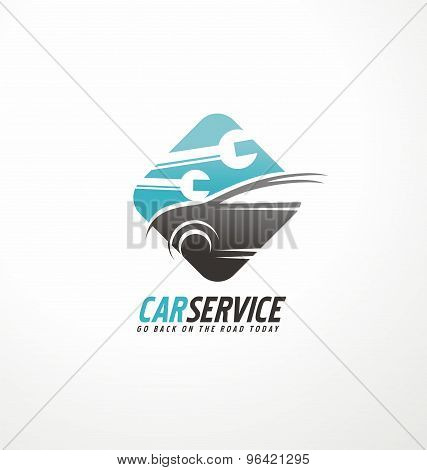 poster of Car service logo