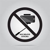 picture of selfie  - No selfie stick sign  - JPG