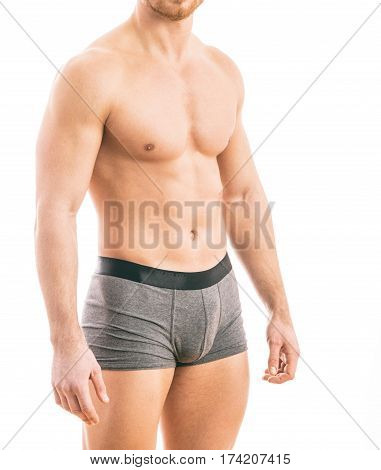 Muscular Young Man Wearing Boxer