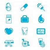 Постер, плакат: медицинские икона set