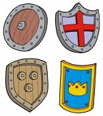 Shield collection - vector illustration.