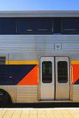 pic of amtrak  - Entry doors passenger car of Amtrak California - JPG