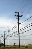 image of power lines  - power and - JPG