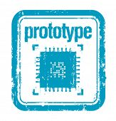 prototype concept rubber stamp
