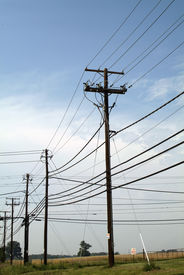 foto of power lines  - power and - JPG