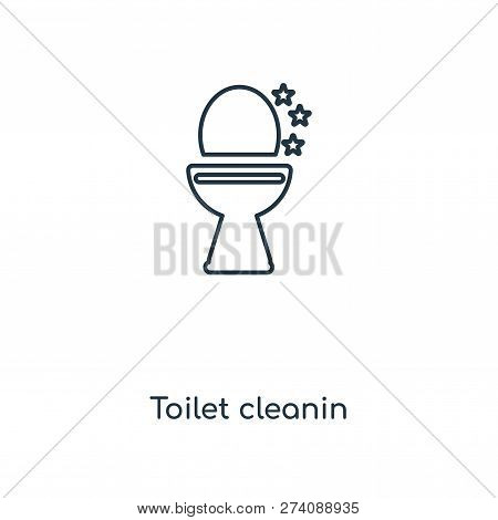 Toilet Cleanin Icon In Trendy