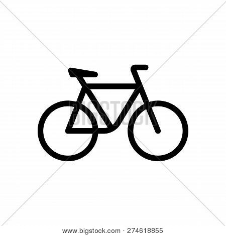 Simple Bicycle Linear Outline Icon