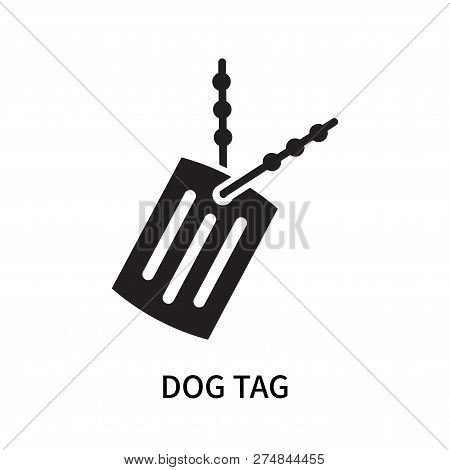 poster of Dog Tag Icon Isolated On White Background. Dog Tag Icon Simple Sign. Dog Tag Icon Trendy And Modern