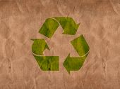 stock photo of recycled paper  - illustration of a recycle paper with signs and cutter - JPG