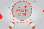 Handwriting Text Qa Team Application Testing. Concept Meaning Question And Answers Making Software T poster