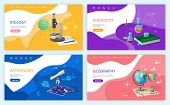Biology Discipline, School Subjects, Astronomy Vector. Geography Lessons, Chemistry Studies, Discove poster