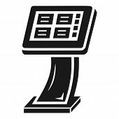Info Vending Machine Icon. Simple Illustration Of Info Vending Machine Vector Icon For Web Design Is poster
