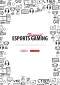 Cyber Sport Banner. Esports Gaming. Video Games. Live Streaming Game Match. Vector Illustration poster