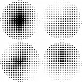 Halftone vector elements
