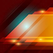 Abstract Technology Geometric Red Color Shiny Motion Background. Template With Header And Footer For poster