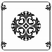 Antique Black Ornaments, Baroque Ornaments, Scroll Ornaments, Border Carving Ornaments, Floral Ornam poster