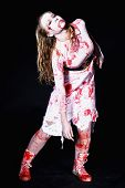 picture of gory  - gory bloody and scary zombie - JPG