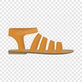 Summer Woman Sandal Icon. Flat Illustration Of Summer Woman Sandal Vector Icon For Web Design poster