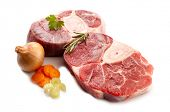stock photo of beef shank  - veal shank with ingredients - JPG
