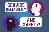Word Writing Text Service Reliability And Safety. Business Concept For Warranty Assurance Security S poster