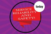 Conceptual Hand Writing Showing Service Reliability And Safety. Business Photo Text Warranty Assuran poster