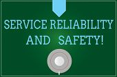 Handwriting Text Writing Service Reliability And Safety. Concept Meaning Warranty Assurance Security poster