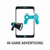 In-game Advertising Icon Isolated On White Background. In-game Advertising Icon Simple Sign. In-game poster