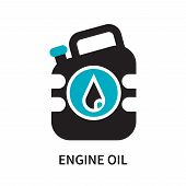 Engine Oil Icon Isolated On White Background. Engine Oil Icon Simple Sign. Engine Oil Icon Trendy An poster