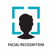 Facial Recognition Icon Isolated On White Background. Facial Recognition Icon Simple Sign. Facial Re poster