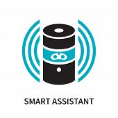 Smart Assistant Icon Isolated On White Background. Smart Assistant Icon Simple Sign. Smart Assistant poster