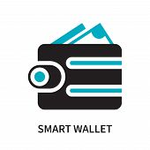 Smart Wallet Icon Isolated On White Background. Smart Wallet Icon Simple Sign. Smart Wallet Icon Tre poster