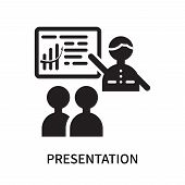 Presentation Icon Isolated On White Background. Presentation Icon Simple Sign. Presentation Icon Tre poster