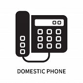 Domestic Phone Icon Isolated On White Background. Domestic Phone Icon Simple Sign. Domestic Phone Ic poster