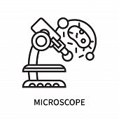 Microscope Icon Isolated On White Background. Microscope Icon Simple Sign. Microscope Icon Trendy An poster