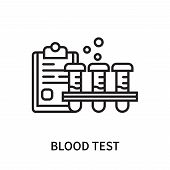 Blood Test Icon Isolated On White Background. Blood Test Icon Simple Sign. Blood Test Icon Trendy An poster