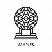 Samples Icon Isolated On White Background. Samples Icon Simple Sign. Samples Icon Trendy And Modern  poster