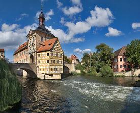stock photo of regnitz  - Altes Rathaus  - JPG