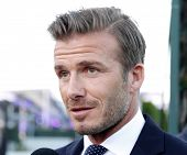LOS ANGELES - OCT 1: David Beckham at the Time Warner Sports Launch of TWC Sportsnet and TWC Deporte
