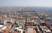picture of smog  - Aerial view of Mexico City with traffic and smog - JPG