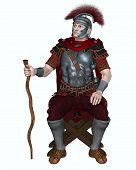 Roman Centurion with Transverse Crest and Vine Staff
